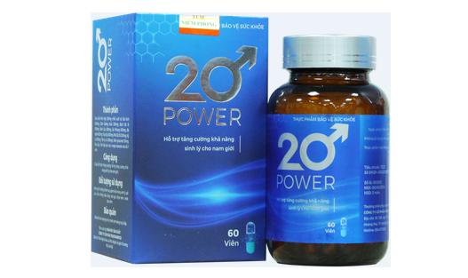 Đánh giá 20 Power tăng cường sinh lý nam có tốt không