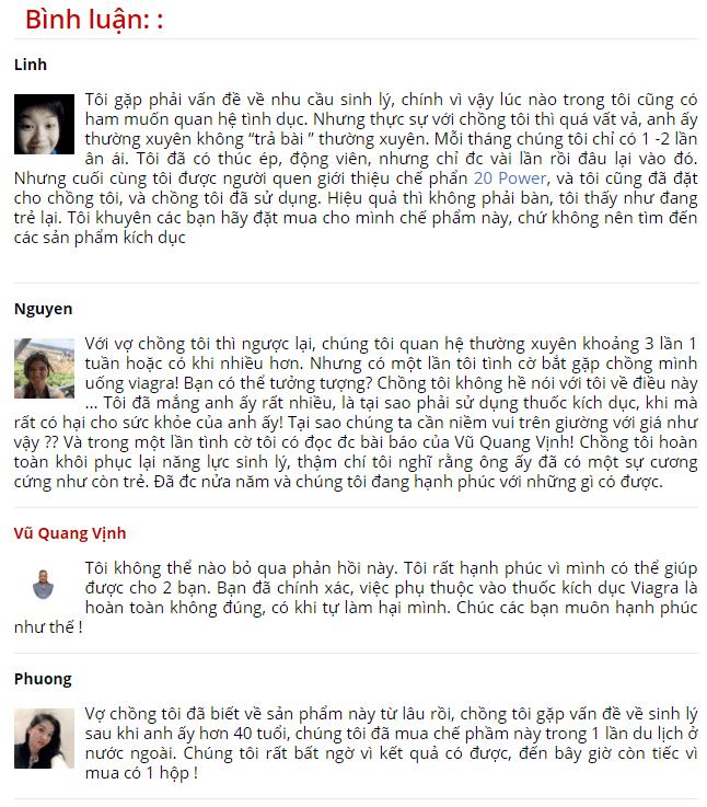 20 Power đánh giá từ người dùng