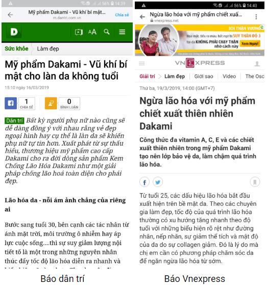 Dakami đánh giá từ báo chí