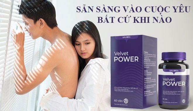 Thuốc tăng sinh lý Velvet Power có tốt không Lừa đảo Công dụng, giá bao nhiêu, mua ở đâu