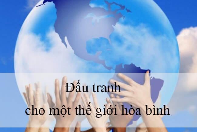 ĐẤU TRANH CHO MỘT THẾ GIỚI HOÀ BÌNH (G.G. Mác - két)