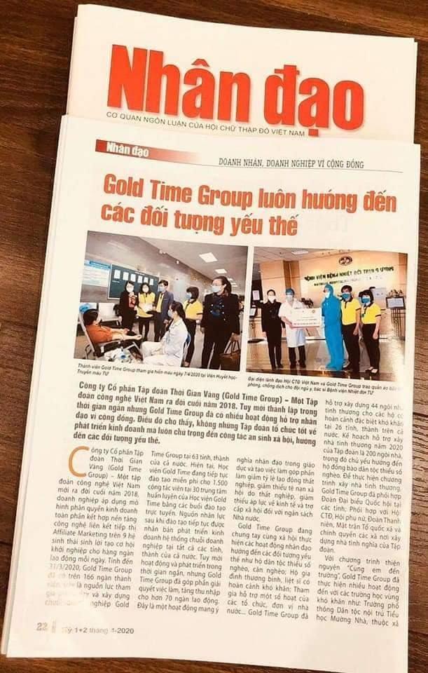 Báo Tạp Chí Dân Tộc Đưa Tin Về GoldTime Group