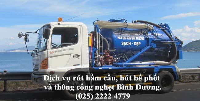 Dịch vụ hút hầm cầu, rút bể phốt và thông cống nghẹt giá rẻ tại Bình Dương (025) 2222 4779 1