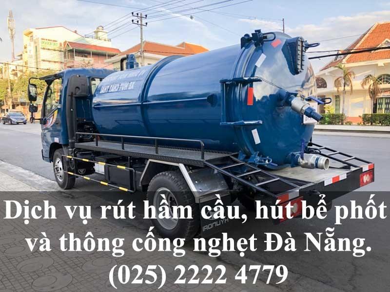 Dịch vụ rút hầm cầu, hút bể phốt và thông cống nghẹt giá rẻ tại TP Đà Nẵng