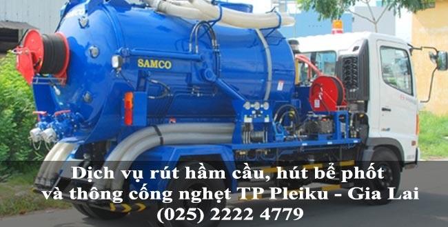 Dịch vụ rút hầm cầu, hút bể phốt và thông cống nghẹt giá rẻ tại TP Pleiku - Gia Lai 1