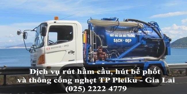 Dịch vụ rút hầm cầu, hút bể phốt và thông cống nghẹt giá rẻ tại TP Pleiku - Gia Lai 3