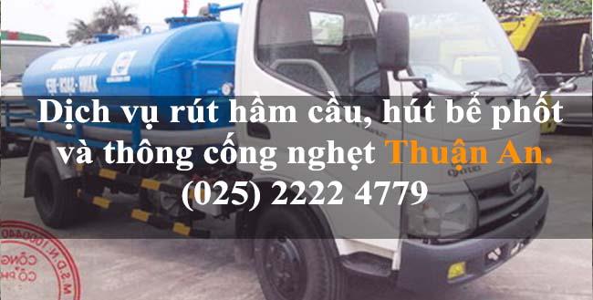 Dịch vụ rút hầm cầu, hút bể phốt và thông cống nghẹt giá rẻ tại Thành Phố Thuận An Bình Dương