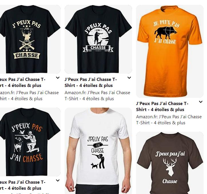 J'Peux Pas J'ai Chasse T-Shirt 1