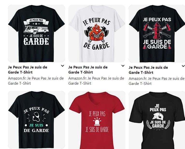 Je Peux Pas Je suis de Garde T-Shirt 1